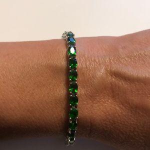 JTV Green Chrome Diopside Tennis Bracelet NWOT